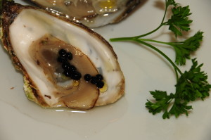 "Malpec Oyster with Mignonette ""Caviar"""